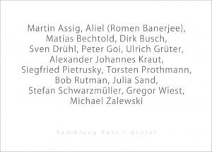 Ausstellung 2017 Sammlung Kant Grüter